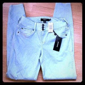 Torrid Aqua Blue Green Skinny Jeans NWT 10 TALL